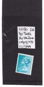 GB SPECIALISED MACHIN CC50 0.5p TURQUOISE 2B X841 CYL 2 FCP/PVA - SEPT 1972