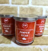 3 DW Home  Pumpkin Pecan Richly Scented Candle Small Jar 3.8 oz~11.4oz