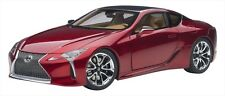 AUTOart 1/18 Lexus LC500 Metallic Red Interior Tan color Plastic Model Figure