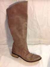 Pied Candy Brown Hautes Bottes en cuir taille 4