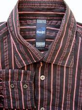 Poggianti Camisa Para Hombres 16.5 L Negro – con textura de rayas