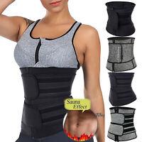 Women Waist Trainer Corset Trimmer Belt Body Shaper Cincher Girdle With Zipper
