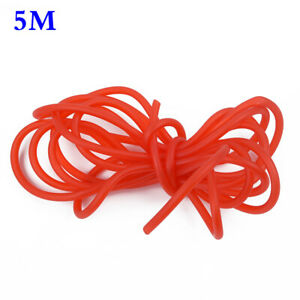 Red 5M 4mm Auto Silicone Vacuum Hose Line Pipe Tube For Car Cooling System Part
