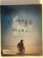 Gone Girl (Blu-ray Disc, 2015, Includes Digital Copy)w/ Amazing Amy Book (NEW)