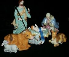 Fitz & Floyd Christmas Nativity 5 Piece Set New, Original Boxes