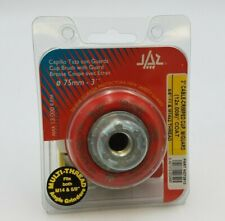 """JAZ 73910 3"""" Cable Crimped Cup Brush Protective Guard 5/8""""-11 M14 x 2 Thread NOS"""