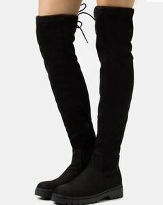 New Look CALCUTTA STRETCH CHUNKY - Over-the-knee boots Uk Size 3 - black