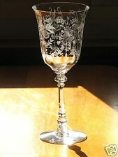 Heisey Glass ORCHID Etch Crystal Clear Water Goblet (s) - Stem 5025 Tyrolean