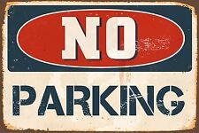 "No Parking 8"" x 12"" Vintage Aluminum Retro Metal Sign VS497"