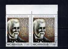 ALFONSO CORTES,- Writer Latin-american. pair hor-border  -NICARAGUA 1989