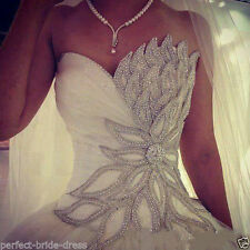 New White/ivory Wedding Dress Bridal Gown Custom Size 6-8-10-12-14-16-18 ++