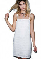NEW NWT DOLLS KILL MOTEL WHITE LACE EYELET SLIP DRESS FESTIVAL SUPER CUTE RARE