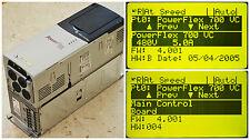 Allen-Bradley PowerFlex 700 3 HP 20BD5P0A0AYNANC0 480 VAC Firmware: 4.001