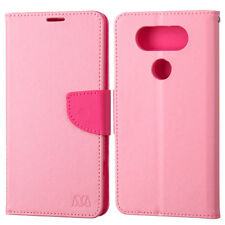 For LG V20 Premium Leather Two Tone Wallet Pouch Flip Case Phone Cover Accessory