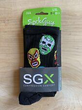 SockGuy Luchador (3 Amigos) SGX compression comfort socks L/XL