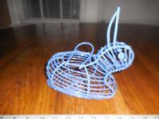 """Blue Wire Bunny/Rabbit Basket 8"""" X 5"""""""