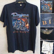 Vintage Daytona Beach Bike Week 84 T-Shirt 3D Emblem XL 80s 1980s (thin)