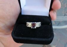 ALEXANDRITE/DIAMOND 14K WHITE GOLD STRONG COLOR CHANGE RING