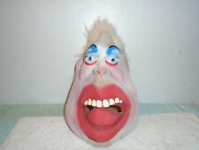 Vintage Rubber Latex Halloween Monster mask white hair man adult size