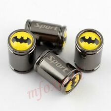Car Tyre Tire Valve Valve Caps Wheels Air Cover Parts Batman Style Titanium 4X