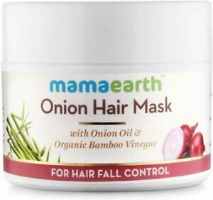 Mamaearth Onion Hair Mask for Hairfall Control with Organic Bamboo Vinegar 200ml