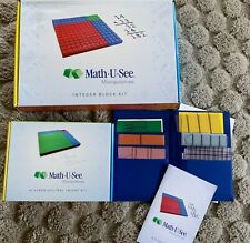 Math U See Block Set - Interger Kit, Algebra/Decimal Kit Overlays