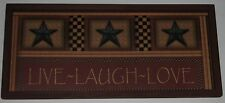 Live Laugh Love  Country Wall Decor 9 inch x 20 inch