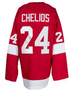 Chris Chelios Signed Custom Red Pro Style Hockey Jersey JSA ITP