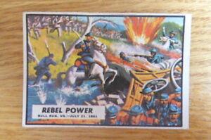 A&BC GUM CARD CIVIL WAR NEWS #4 REBEL POWER  1965 EXCELLENT