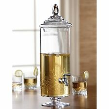 Glass Jar Dispenser Server Pitcher Beverage Drink Decorative Tea Cold Ice Party