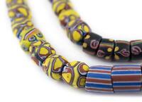 Antique Round Venetian Millefiori Trade Bead Medley Ghana African Multicolor