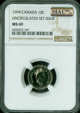 1994 CANADA 10 CENTS NGC MAC MS-69 PQ FINEST GRADE SPOTLESS .