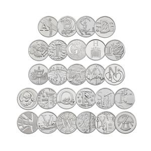 10P A-Z ALPHABET 10 PENCE 2018 & 2019 UNCIRCULATED COINS - VARIOUS DESIGNS