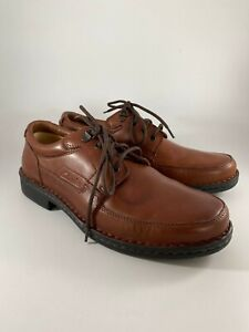Clarks Mens Brown Leather Stockton Lace Up Shoes UK Size 8H VGC Boxed (FN_2226)