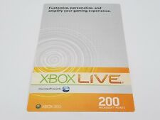 XBOX LIVE 200 MICROSOFT POINT CARD FOR XBOX 360