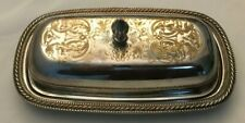Vintage John Seymour Silver Plate Chased Butter Dish