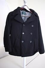 Bossini Wool & Alpaca Blend Black Double Breasted 3 Button Jacket Size - Small