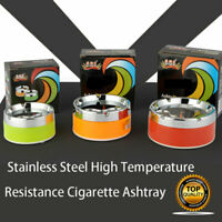 Stainless Steel Cigarette Ashtray Cigarette Ash Holder Windproof Lid Cover AUS