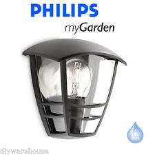 PHILIPS MY GARDEN CREEK LED HALF LANTERN BLACK OUTSIDE LIGHT WALL EXTERNAL BNIB