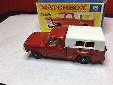 VINTAGE 1968 LESNEY MATCHBOX #6-D FORD PICKUP TRUCK ORIGINAL BOX MINT CONDITION