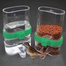 Automatic Bird Feeder Finch Budgie Cage Water Drinker Anti-Algae Bottles New