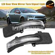 For Mitsubishi Outlander Lancer LED Turn Signal Light Side Mirror Lamp 2013-2018