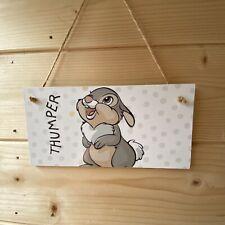 Bambi Thumper Handmade wooden hanging Door Plaque Decoupaged Nursery Decor