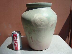 """Weller Hudson Light 12"""" Cabbage Rose Vase Hester Pillsbury"""