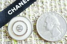 Rare Chanel buttons 8 pcs metal  Logo CC size 20 mm 0,8 inch silver