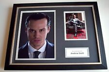 Andrew Scott SIGNED FRAMED Photo Autograph 16x12 display TV Sherlock AFTAL & COA