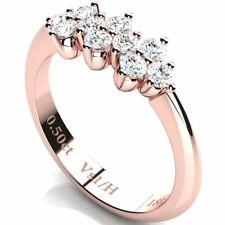 Half Eternity Urchin Diamond Ring 0.50ct Vs1 / H Rose Gold 18K Engagement