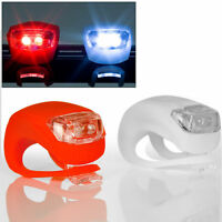 10 LED Mountain Bike Bicycle Silicone Front Rear Lights Push Cycle Light Clip SF