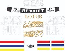Kimi Raikkonen James Hunt F1 Helmet Stickers Kit Tribute Monaco Lotus F1 1.1