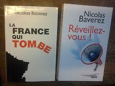 Lot de 2 livres de Nicolas Beverez Réveillez-vous ! La France qui tombe